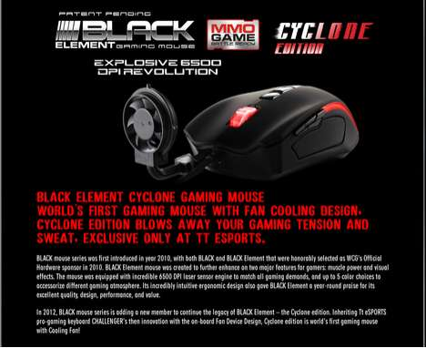 The Black Element Gaming Mouse Cyclone Will Leave Your Hands Dry