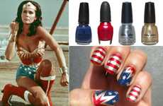 Glam Superhero Manicures - These Wonderwoman DIY Nails Are Just in Time For the Fourth Of July