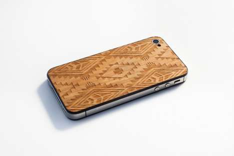The Benny Gold X Material6 'Native Print' iPhone Back is Intricate