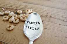 Hand-Stamped Vintage Cutlery - The Cereal Killer Spoon by Aly Nickerson Adds Humour to Antique Items