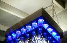 Beer Bottle Chandeliers  - The Michael Goodman Creation is Perfect for Any Games Room
