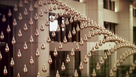 Kinetic Rain by ART+COM is Located in Singapore's Airport