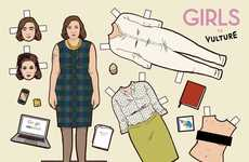 HBO Girls Paper Dolls - The Kyle Hilton Cut-Outs Channels These Favorite Ladies