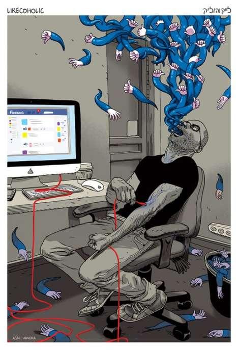 Facebook Addict Posters
