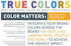 Thoughtful Branding Tint Tables - The 'True Colors' Infographic is Insightful for Budding Companies