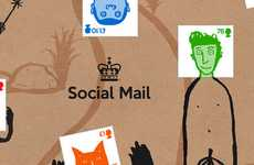 Cute Custom Completion Stamps - The Gary Hunt 'Social Mail' Concept Encourages Snail Mail Use