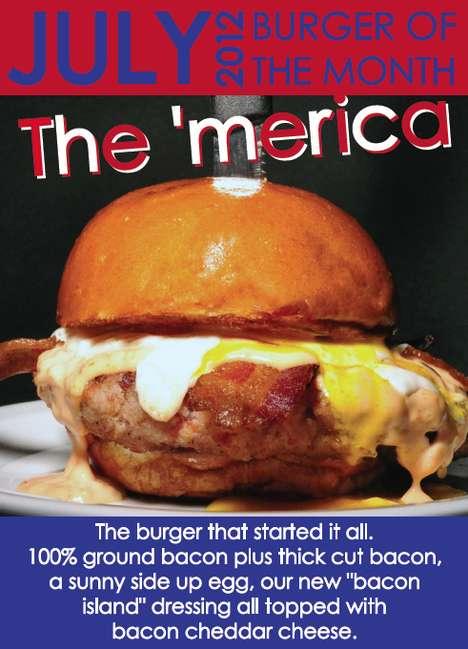 Patriotic Breakfast Burgers