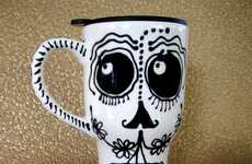 Eerie Skeleton Mugs - The Patty Mara Collection is Inspired by Salvador Dali