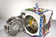 Graffitied Greenback Banks - The Dottling PopArt Colosimo Keeps Collections of Cash Secure