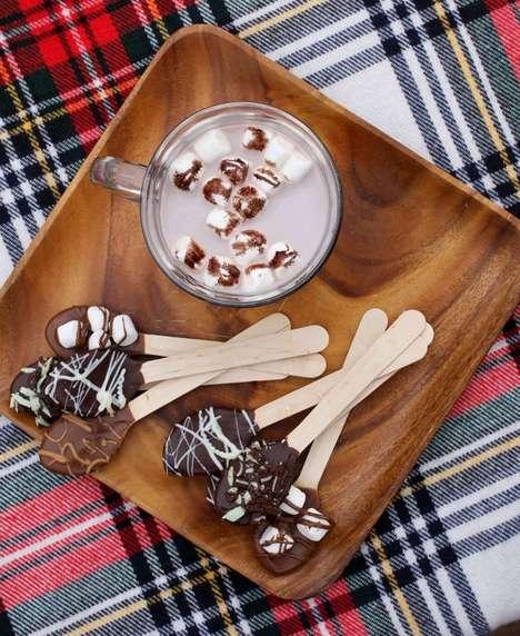 DIY Cocoa Dessert Spoons