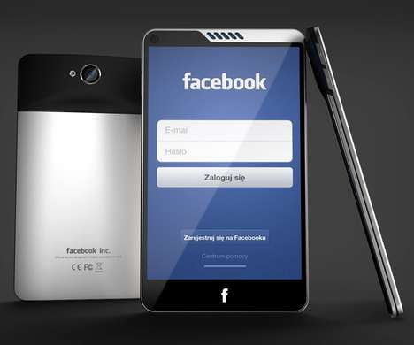 Fantastically Flat Facebook Phones - This Concept by Michal Bonikowski Gets a Lot of 'Likes'