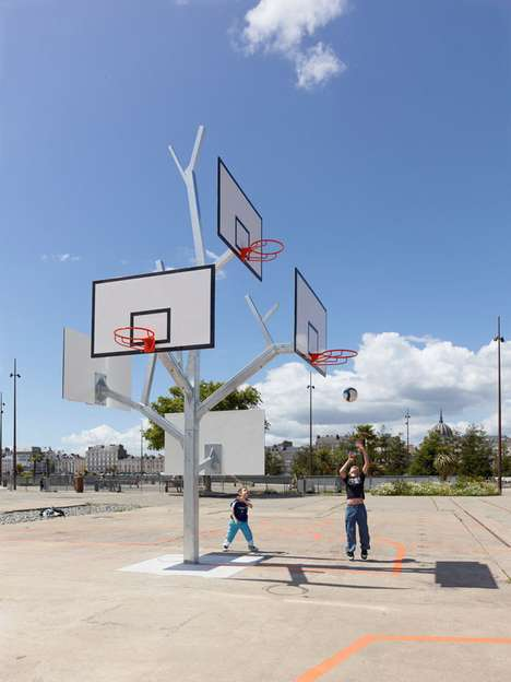 Arboreal-Inspired Ball Nets - Basket Tree is a Playful Arena That Takes the Form of a Tree
