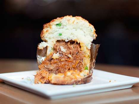 Scrumptious Meat Stuffed Sweets - The BBQ Pulled Pork Cupcake is Filled With Savory Goodness