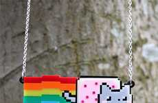 Adorable Kitty Meme Pendants - The Nyan Cat Necklace by Sugar and Vice Designs is Internet-Inspired