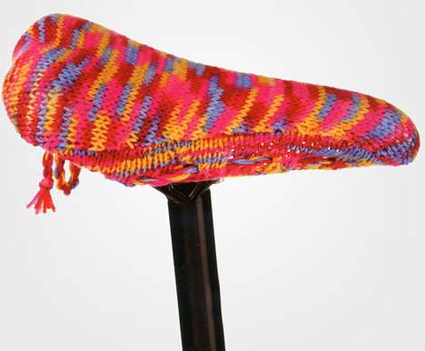 The Bike Seat Cover Knitting Kit is Perfect for Crafty Fingers
