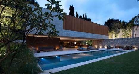 Exposed Concrete Mansions