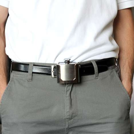 Secret Booze Fasteners - The Belt Buckle Flask Is Covert And Stylish