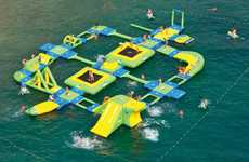 Massive Floating Playgrounds - The Wibit Sports Park 60 is an Inflatable Water Park Wonderland