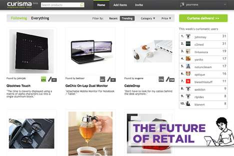 Tailored e-Shopping Platforms - Curisma Customizes Product Recommendations for Shoppers