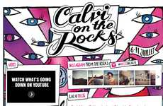 Music-Themed Social Shopping - Diesel 'Calvi on the Rocks' Facebook Campaign is Interactive