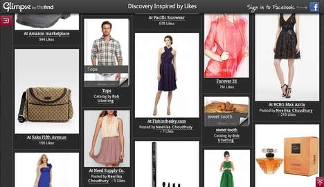 Preference-Driven Online Shopping - Glimpse Uses Facebook Likes to Create Custom Product Catalog