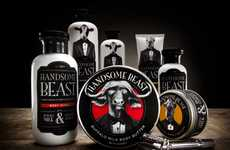 Bull-Branded Bodycare - Handsome Beast Packaging Promises to Tame the Male Species