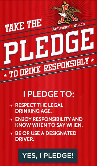Beer-Branded Oaths - Take the Anheuser-Busch Pledge to Drink Responsibly