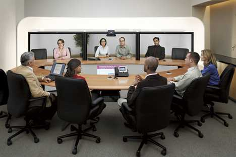 High-Tech Teleconferencing - Cisco TelePresence