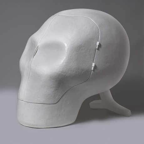 Sensory Deprivation Skull Chair by Atelier van Lieshout