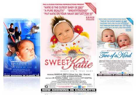 Faux Movie Posters to Announce Babies - 5starbaby.com