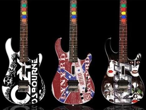 Custom Rock Band and Guitar Hero Instruments