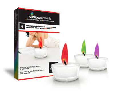 Colored Flames - Rainbow Moments Tea Lights