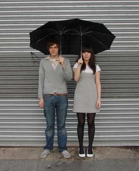 Double-Stemmed Umbrellas - Tandem Umbrella For Lovers