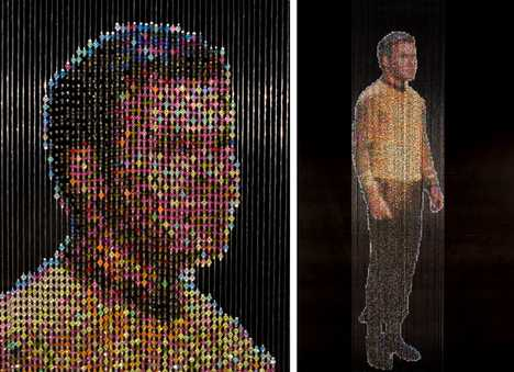 Beads as Pixels - Star Trek Bead Curtains