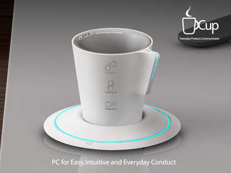 Holographic Touch Screen Dishes - Cup PC
