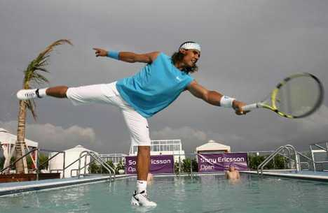 Tennis on Water - Williams & Nadal for Sony Open