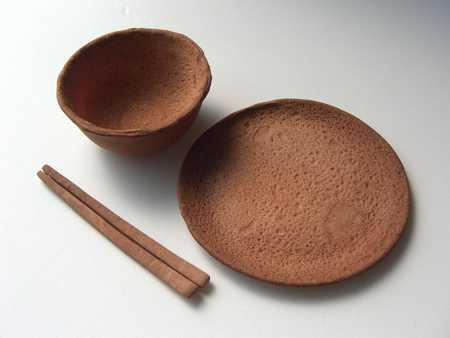 Edible Tableware - Rice Design Plates and Bowls You Can Eat