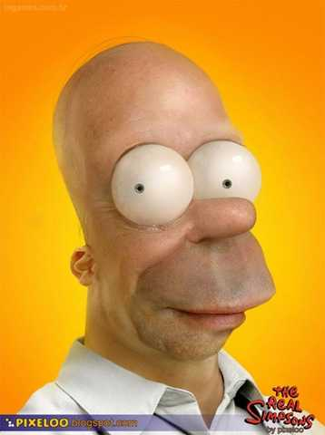 Humanized Cartoons - Homer Simpson and Mario in the Flesh?