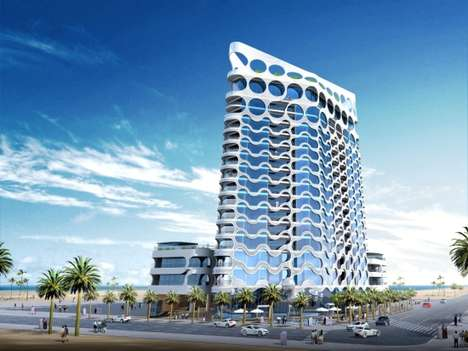 Champagne Inspired Buildings - The Bubble Windows of Dubai's Pixel Tower