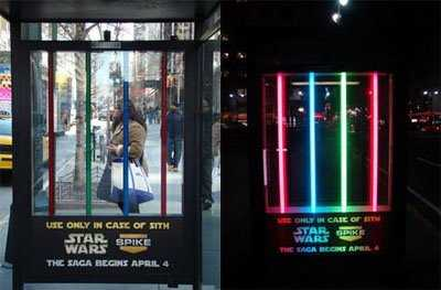 Emergency Light Sabers - Star Wars Bus Stop Ad Prepares You for the Sith