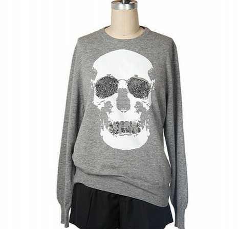 Crystal Cashmere Skull Sweater for $2500