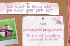 Interactive Cancer-Fighting Campaigns - Puma 2012 Project Pink Asks 'Who Do You Wear Pink For?'