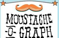 Hairy Face Graphics - The 'Moustache o' Graph' is a Clever 'Stach Maintenance Infographic