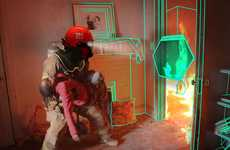 X-Ray Vision Headgear - The C-Thru Smoke Diving Helmet Helps Firemen Navigate Burning Buildings