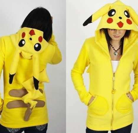 Fuzzy Pikachu Sweaters