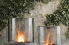 Posh Indoor Campfires - The 'Laguna Concrete Fire Column' Makes Patio Season Awesome