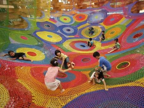 Knitted Kid-Friendly Installations