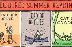 Seasonal Literature Illustrations - The 'Required Summer Reading' Comic by Grant Snider is Brilliant