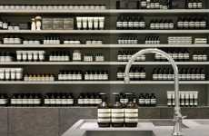 Streamlined Apothecary Shops - The Aesop Yokohama and Shin-Marunouchi Stores Both Use One Material
