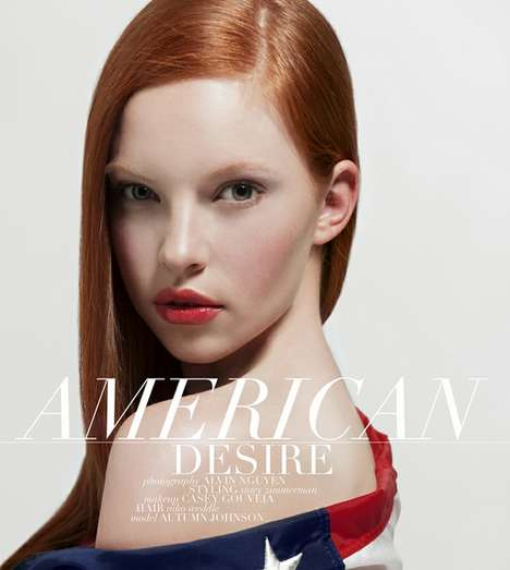 Patriotic Redhead Editorials - American Desire by Alvin Nguyen is Fresh-Faced and Beautiful